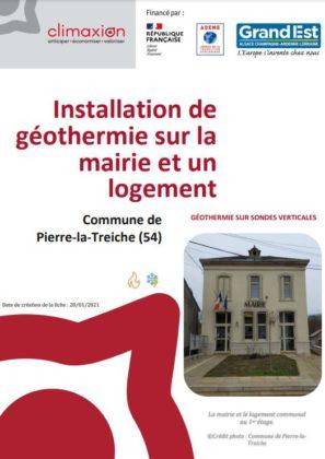 Installation de géothermie sur la mairie et un logement à Pierre la Treiche