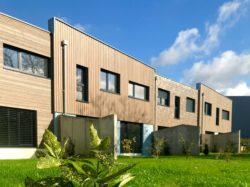 Construction de quatre maisons passives en bande à Geudertheim (67)