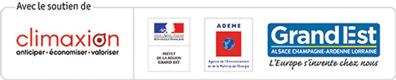 Logos Climaxion, Préfet, Région Grand Est, ADEME