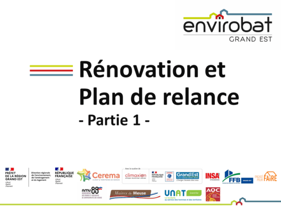Rénovation et Plan de relance – REPLAY et Podcast disponibles